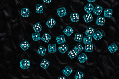Blue dices Royalty Free Stock Photography