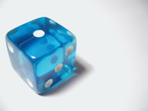Blue Die. Offset to the left Royalty Free Stock Images