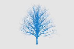 blue die tree color Silhouettes art design Stock Image
