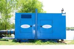 Blue Diesel Powered Generator Royalty Free Stock Photo