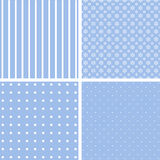 Blue different  patterns. Royalty Free Stock Image