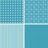 Blue different  patterns. Stock Photos