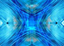 Blue diffusion. Blue background made of diffused lines and lights. Illustration made on computer Royalty Free Stock Image