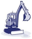 A blue digger machinery Royalty Free Stock Images
