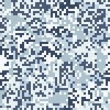 Blue digit camouflage seamless pattern Royalty Free Stock Image