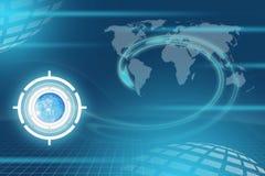 Blue digital background Stock Images