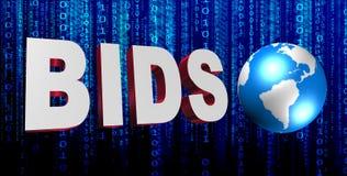 Global bids background Stock Photos