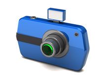 Blue digital camera Royalty Free Stock Images