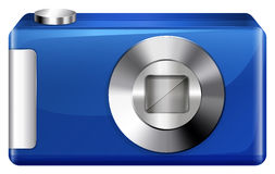 A blue digital camera Stock Photography