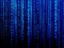 Blue digital data stream Royalty Free Stock Photos