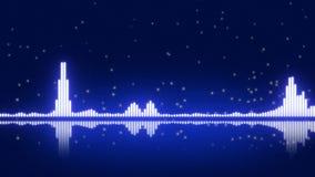 Blue Digital Equalizer. Musical background Stock Photo