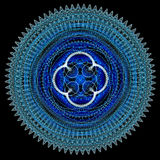 Blue digital mandala Stock Images