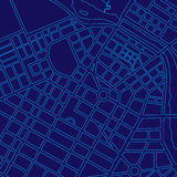 Blue digital map of a generic city Stock Photo