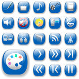 Blue Digital Media Art Icons Royalty Free Stock Images