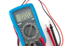 Multimeter with probes Stock Images