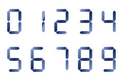 Blue digital numbers Stock Photos