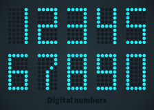 Blue digital numbers, dotted style. Editable size. Blue digital numbers in dotted style, vector editable illustration Royalty Free Stock Images