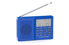 Blue digital radio Stock Photo