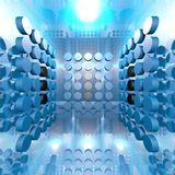 Blue Digital Room Royalty Free Stock Images