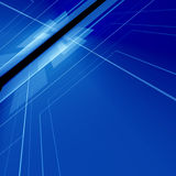 Blue digital space. Abstract blue digital background with high detail Stock Image