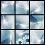 Blue digital space Royalty Free Stock Images