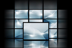 Blue digital space. Abstract blue digital backgrounds with high detail Royalty Free Stock Images