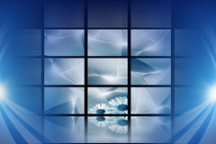 Blue digital space. Abstract blue digital backgrounds with high detail Stock Image