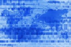 Blue Digital World Background Royalty Free Stock Images