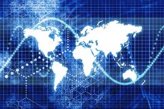 Blue Digital World Business Abstract Royalty Free Stock Image
