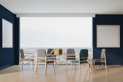 Blue dining room, two posters Stock Photography