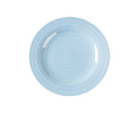 Blue dinner plate Royalty Free Stock Photo
