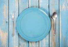 Blue dinner set Royalty Free Stock Images