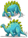 Blue dinosaure with spikes tail. Illustration Royalty Free Stock Photo