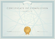 Blue Diploma / Certificate background and border stock illustration