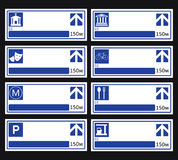 Blue Directional Road Sign. Stock Images