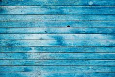Blue dirty wooden wall Royalty Free Stock Photography