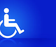 Blue Disability Background Royalty Free Stock Photos