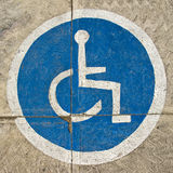 Blue disabled sign Stock Photography
