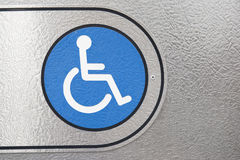 Blue Disabled Sign Royalty Free Stock Image
