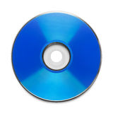 Blue Disc. Blue CD with Copy Space Isolated on a White Background Stock Image