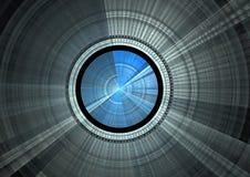 Blue disc. Detail view of blue disc in fractal form vector illustration
