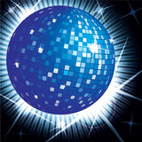 Blue disco ball. Illustration of blue disco ball Stock Photography