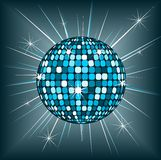 Blue disco ball Stock Images