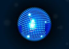 Blue disco ball. Light background full layout royalty free illustration