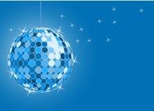 Blue disco ball royalty free illustration