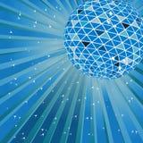 Blue disco ball Royalty Free Stock Image