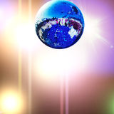 Blue disco ball Stock Image