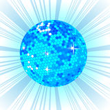 Blue Disco ball background Stock Photo