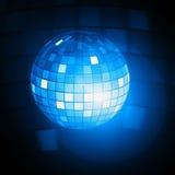 Blue disco ball illustration Stock Images