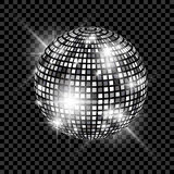 Blue Disco Ball isolated on a transparent background. Vector EPS 10 illustration Stock Photo